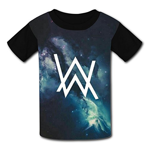 Sports Star Costume Ideas (Hevilcat AW Galaxy Stars Walker T-shirts for Kids Tee Shirt Tops Short Sleeve Costume XL)