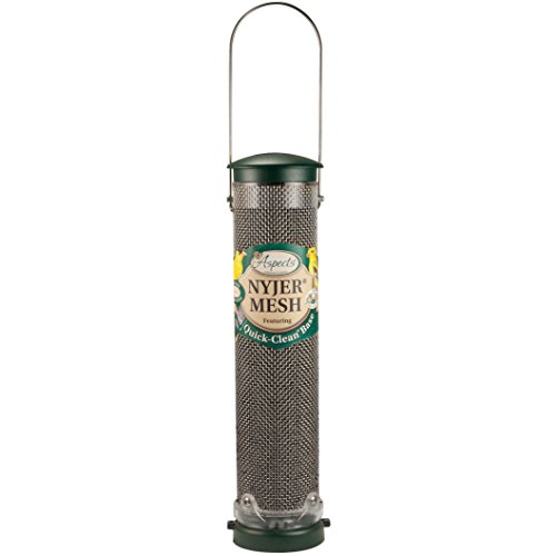 Aspects Finch Feeder (Aspects 439 Nyjer Mesh Birdfeeder with Quick-Clean Base, Spruce)