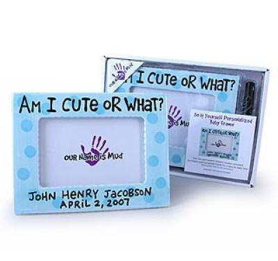 Our Name is Mud Personalized Cute or What Frame - Blue (Discontinued by (Our Name Mud Gifts)