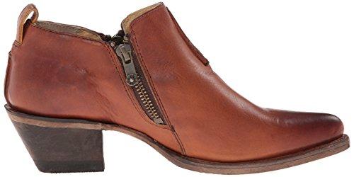 Frye Womens Sacha Moto Shootie Western Boot Cognac