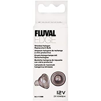 Fluval EDGE Shielded Halogen Replacement Bulb, 10 Watts - 2-pack