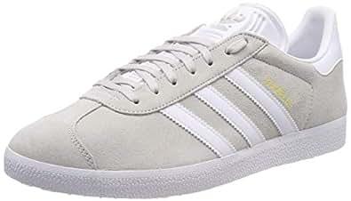 adidas Gazelle, Zapatillas de Gimnasia para Hombre, Gris Grey One F17/Ftwr White/Gold Met, 44 2/3 EU
