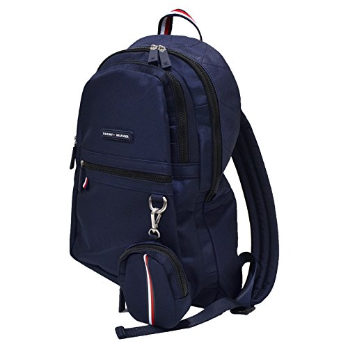 Tommy Hilfiger Laptop Backpack With Removable Pouch (Navy Blue)