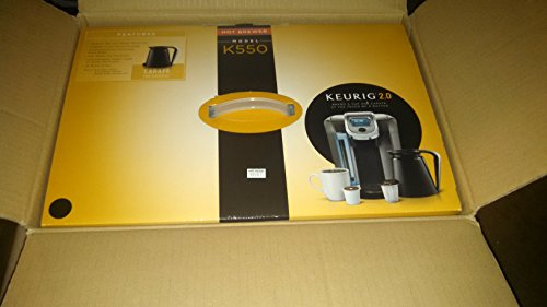 Keurig K550 Coffee Maker Single Serve 2.0 Brewing System with Top Needle Cleaning Maintenance ...