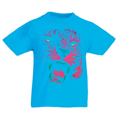 Funny t Shirts For Kids The Tiger! (3-4 Years Light Blue Multi Color) (3 Chipotle Halloween)
