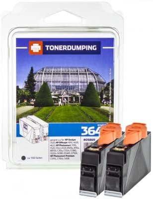 2 Toner Dumping Cartuchos de Tinta Compatible con HP 364 X L/CB321EE – Doble Pack de Negro: Amazon.es: Oficina y papelería