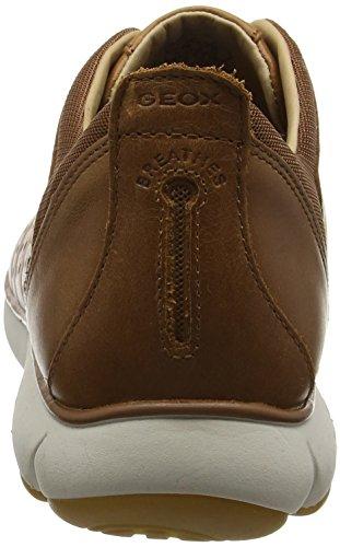 Leather Cognac On Nebula Slip Mens Casual U Sneakers Geox Swx4pq808