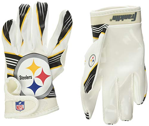 Franklin Sports NFL Pittsburgh Steelers Youth Football Receiver Gloves - Medium/Large
