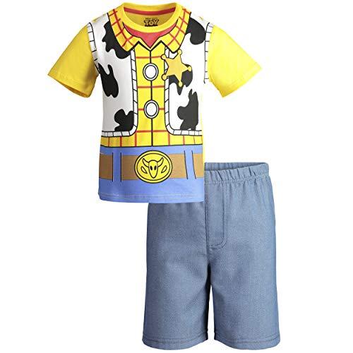 Disney Pixar Toy Story Woody Little Boys T-Shirt & Shorts Clothing Set 5 -