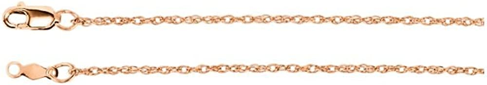 Jewels By Lux 14K Rose Gold 1.25mm Rope Chain
