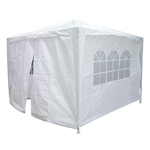 Quictent 10'x10' Outdoor Canopy Party Wedding Tent Gazebo Pavilion 2 Window Side Walls + 2 Zippered Walls