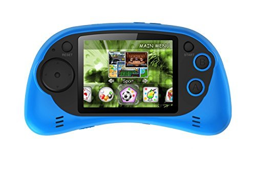 "Handheld Portable Digital Screen 200 Preloaded Games , 2.7"" Color Display BLUE by IQ Toys"