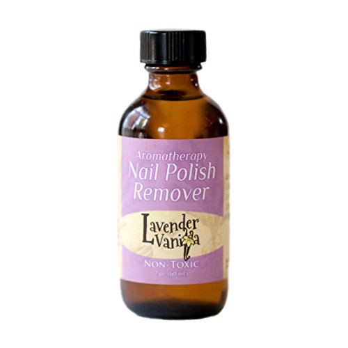 Non-toxic, Natural, Aromatherapy Nail Polish Remover - Lavender Vanilla (Sleep) 4 oz. bottle
