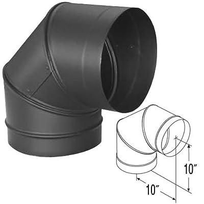 "DuraBlack 10"" 90 Degree Black Elbow - 10DBK-E90"