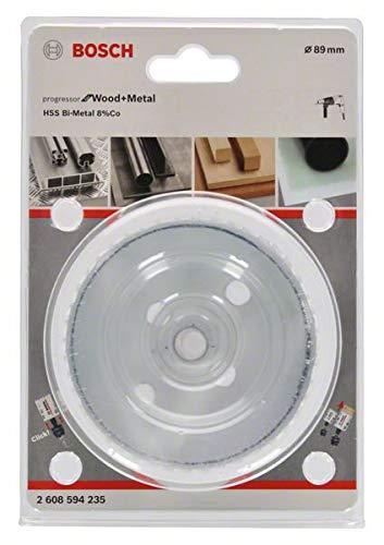 aleaci/ón de cobalto 8/%, para madera y metales, di/ámetro de 89 mm Sierra de corona Bosch 2608594235 BiM Progressor Bi