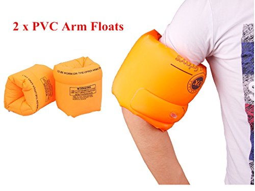 ZWZCYZ Floaties 1 Pair/2pcs Inflatable Swim Arm Bands Floatation Sleeves Swimming Rings Floats Tube Armlets for Kids and...