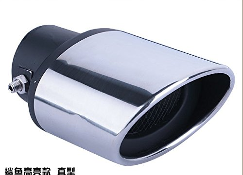 Car Modification Chrome Stainless Steel Exhaust Rear Tail Pipe Tip Tailpipe Muffler Pretector Cover Trim Silver Color Custom Fit For Nissan Versa Sedan 2009 2010 2011 2012 2013 2014 2015 2016 2017 2018 2019