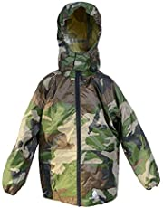 DRY KIDS Waterproof Packable Jacket for Boys and Girls