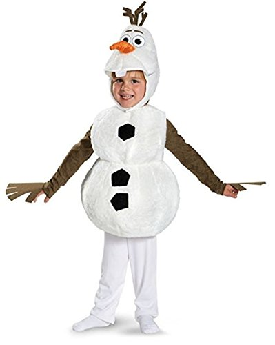 Disguise Baby's Disney Frozen Olaf Deluxe Toddler Costume,White,Toddler L (4-6) -