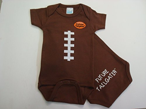 Cleveland Football Baby Onesie (6 (Cleveland Browns Football Baby Onesie)