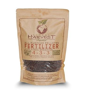 Global Harvest Organics All Purpose Pelleted ORGANIC Fertilizer 2lb Resealable bag