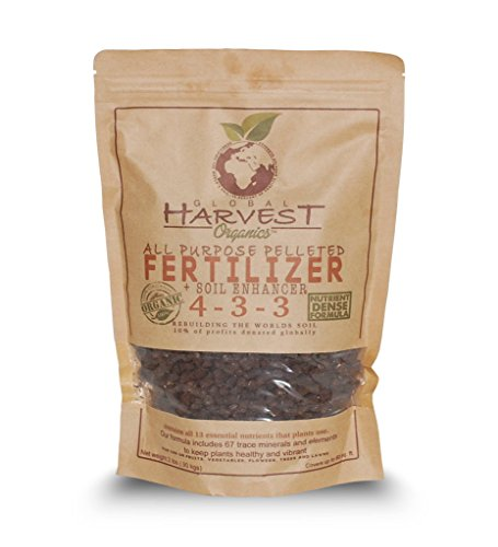 Global Harvest Organics All Purpose Pelleted ORGANIC Fertilizer 2 lb Resealable Bag
