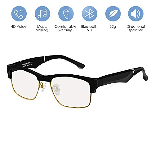 B&H-ERX Wireless Bluetooth Audio Sunglasses,Open Ear Headphones Music & Hands-Free Calling, for Men & Women, Polarized Glasses,C