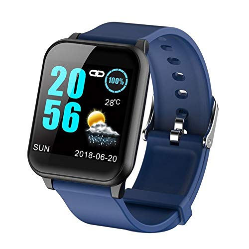 OPTA-RSB-099 Bluetooth Heart Rate + Smart Watch + All-in-One Activity Tracker + Sleep Monitor Compatible with Android/iOS Smart Phones for Men Women Teens(Blue)