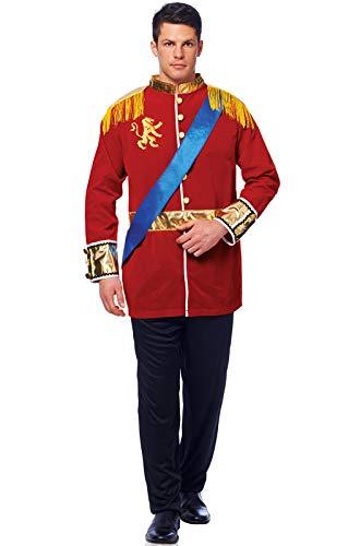 Costume Culture Men's Prince Costume, Red, -