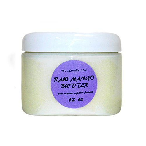 Mango Butter Organic 100% Pure Raw by Dr.Adorable 12 Oz