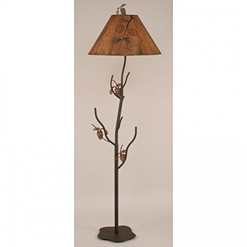 Pine Tree Floor Lamp - Coast Lamp Manufacturer 12-R34B Charred Iron Pine Tree Floor Lamp - 65 in.