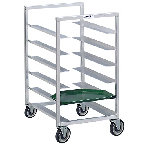 Channel T448A3 10 Tray Bottom Load Aluminum Trapezoidal Cafeteria Tray Rack - Assembled by Channel Manufacturing