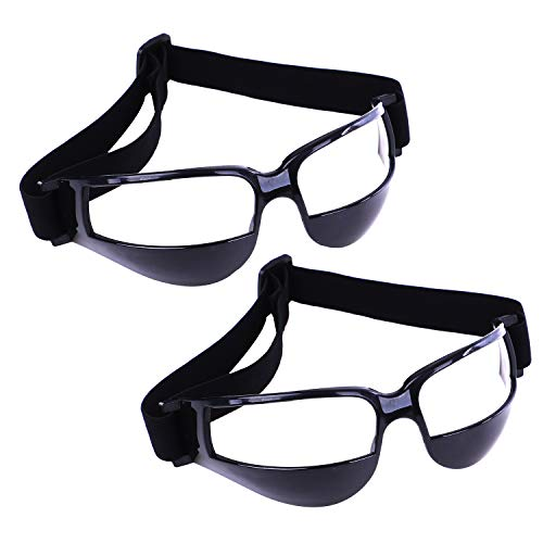 4c2961454c Olgaa Basketball Goggles Sport Dribble Specs Goggles Black Sports Goggles  Dribbling Specs Basketball Training Aid for Teenagers Kids Gifts (2 Pieces)