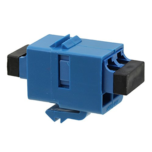 Lot of 7 TE Amp 1933286-4 Fiber Optic Connector DUPLX LC ADAPT SM-MM SL BLUE