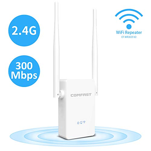 (N300 WiFi Range Extender 2.4GHz 300Mbps WiFi Repeater Wireless Signal Booster with Dual External Antennas)