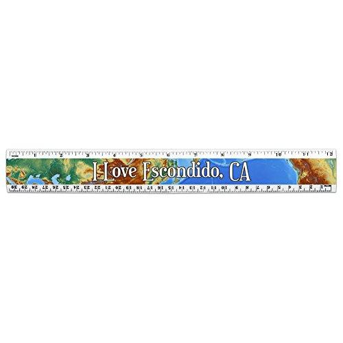 i-love-heart-city-state-c-e-12-inch-standard-and-metric-plastic-ruler-escondido-ca