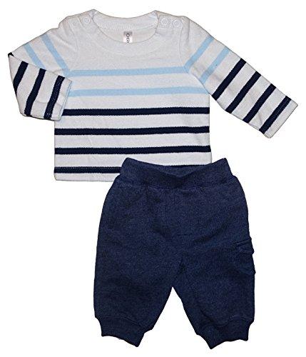 (Cherokee Baby Girls 2 Piece Striped Sweater & Pants Outfit Set (Newborn))