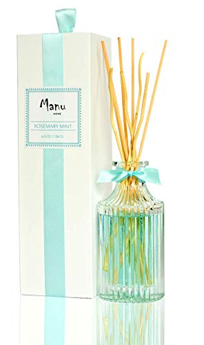 - Manu Home Rosemary Mint Reed Diffuser Set~Clean herbal scent is blended with natural essential oils of rosemary, mint, eucalyptus & citrus. Refreshing botanical scent brings home the uplifting aromas~