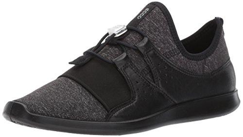 ECCO Women's Sense Elastic Toggle Fashion Sneaker Black, 37 EU / 6-6.5 US by ECCO