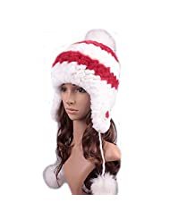 UK.GREIFF Womens Trendy Warm Stretch Rabbit Fur Winter Cap Bomber Hat