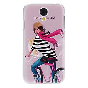 xiao Bike Girl Pattern Hard Case for Samsung Galaxy S4 I9500