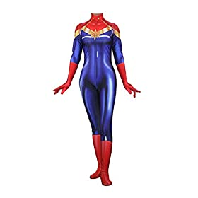 - 41gTjKKE 2BtL - Texmex Cosplay Lady Captain Suit Halloween Costume Spandex Bodysuit Zentai