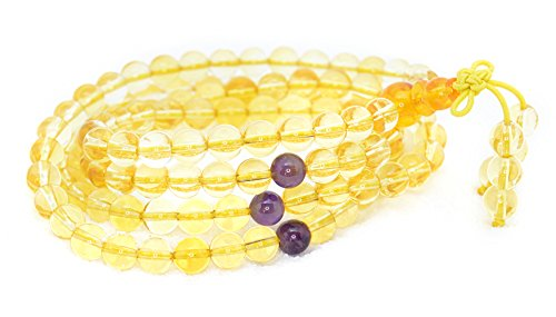 The Art of Cure Healing Jewelry & Mala meditation beads (108 beads on a strand) (citrine) by The Art of Cure