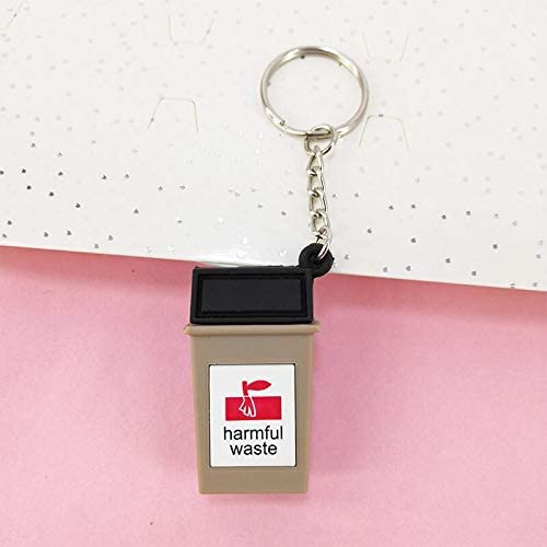 新ポータブル PVC ミニごみ箱分類キーリングペンダントバッグ車のキーの装飾品