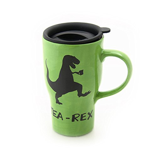 Tea Rex Travel Mug with Handle
