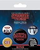 Stranger Things - Juego de insignias, multicolor, 10 x 12,5 cm