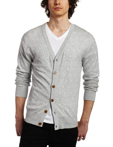 French Connection Men's Pacific Dot Cardigan Sweater
