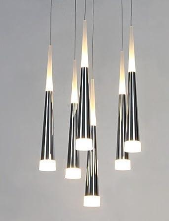 Lámpara de techo, diseño de cascada y luz LED-š Š metal m ...