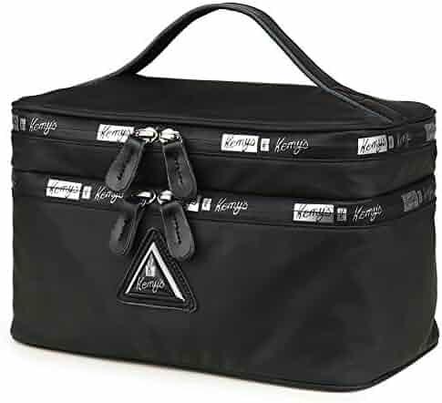 e5ba0da70 Kemy's Mens/Womens Toiletry Bag Large Cosmetic Travel Bag Water-Resistant  Nylon Dopp Kit