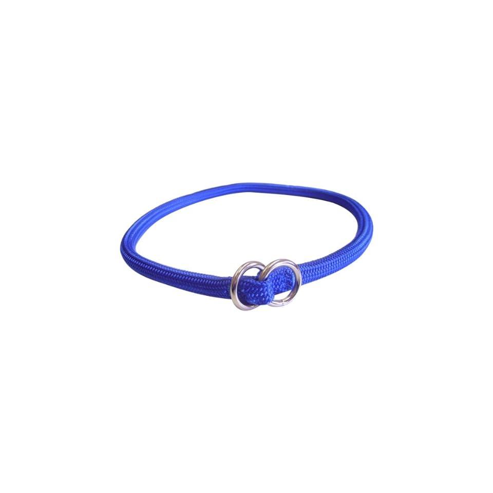 Hamilton 827 BL 5/16 Inch by 16 Inch Round Braided Choke Nylon Dog Collar, Blue